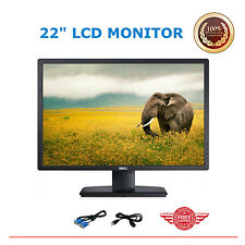 """Dell 22"""" LCD Monitor Widescreen Full HD USB LCD for Gaming Computers GRADE A"""