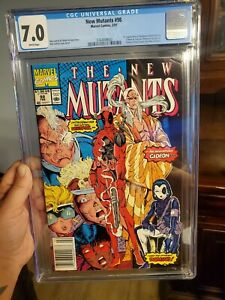 The New Mutants 98 Newsstand edition 7.0 cgc White pages