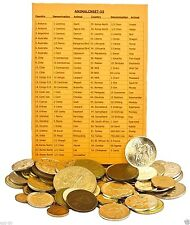 Set of 55 Different Animal Coins With Country and Animal List.Circulated Coins