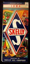 1940 & 1950 IOWA SKELLY OIL COMPANY FOLDING MAPS