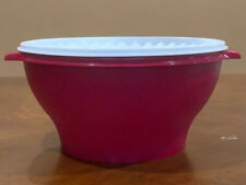 Tupperware Servalier Extra Large Bowl 4 L/ 17 Cups In Burgundy Color New