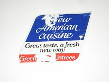 VINTAGE 1984 NEW AMERICAN CUISINE GREEN GIANT SUPERMARKET AD  WINDOW CLING