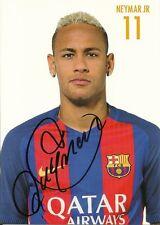 Autogramm Neymar Jr 10x15cm Autogrammkarte Barcelona original Unterschrift