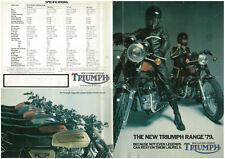 Sales brochure original Prospekt Triumph 1978 1979 t140 tr7v Joli Cadeau