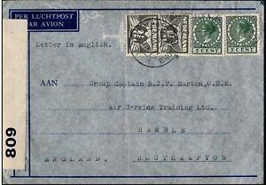 Netherlands 1940 s-Gravenhag Slogan cancel Opened by Censor Postal History