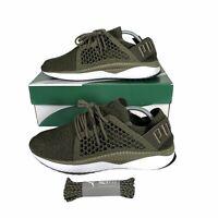 Puma TSUGI Netfit Evoknit Mens Trainers - Size 10 - Olive - VGC
