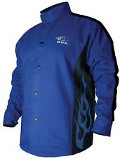 REVCO BSX BXRB9C 9OZ. COTTON WELDING JACKET BLUE/BLACK XL