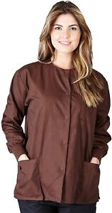 Natural Uniforms Women's Workwear Lightweight Warm Up Jacket Chocolate G102 L
