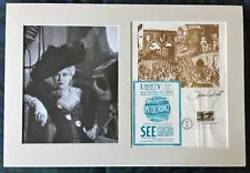 Mae West - First Day Issue 1975 DW Griffith Intolerance Autograph Signed