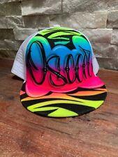 Brand New Boys Airbrush Graffiti Snapback Cap Name Oscar Airbrushed by JADIER