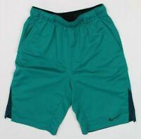 Youth Boys Size XL Nike Green Dri Fit Long Basketball Shorts