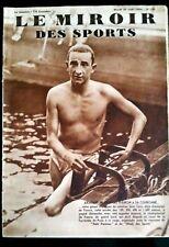 Miroir des Sports 29/08/1933; Jean Taris champion de France de Grand Fond