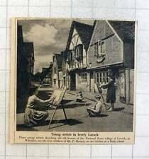1953 Four Children Of Mr P Massey Art Teacher Sketching Old Houses Lacock