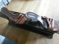 COLLECTOR  CHAUSSURES  MINELLI TYPE SANDALES MULES A TALONS T 37 FR MARRON BE 18