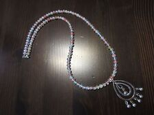 Choker & Drop Dangle Pendant 20�=14g 925 Sterling Silver Cherry Quartz Signed