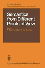 Semantics from Different Points of View 6 (2011, Paperback)