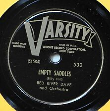 Red River Dave Empty Saddles 78 Cowboy Western NM When Bloom is on the Sage NICE