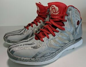 ADIDAS Derrick D Rose 4.5 Basketball Shoes Men's Size 9.5 Silver Red G98339