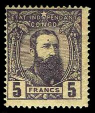 1887-94 Belgian Congo #11 King Leopold Ii - Oglh - F/Vf - Cv$1,012.50 (Esp#3213)