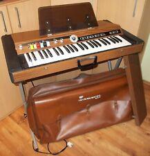 EKO Tiger 3000 Vintage Orgel 1970 Synthesizer Keyboard inkl. Stativ und Tasche