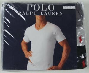 Ralph Lauren Polo 3 pack Grey Black Classic V-Neck T-shirts Tee NWT