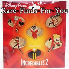 Disney Park Pixar The Incredibles 2 Pin Booster Pack Trading Set of 5 New/Sealed