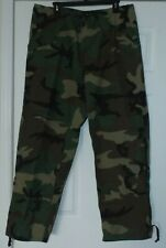 US Military Army USAF Woodland Camo BDU Cold Weather Goretex Trousers Med/Reg