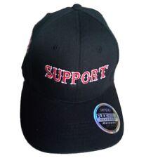 Flexcore CAP Schwarz SUPPORT 81 FTW - Rot/Weiß bestickt