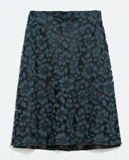 Zara Cotton Blend Casual Floral Skirts for Women