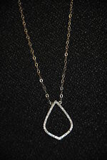 """SILPADA - N2817 - Micro Pave CZ Sterling Silver """"Ace of Spades"""" Necklace NWOT"""