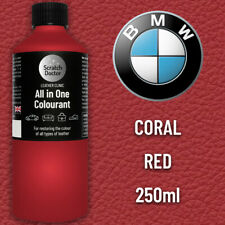 BMW CORAL RED Leather Dye Car Leather Interior Repair Restore Paint Recolour etc