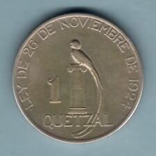 Guatemala. 1925 1 Quetzal.. Part Lustre & Golden tone.. aEF - RARE..