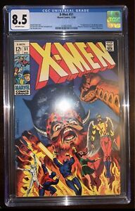X-Men #51 - CGC 8.5 VF+ Off-White Pages! 1st appearance of Erik the Red (cameo)!