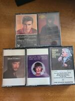 LOT OF 5 VINTAGE 1970S 80S CASSETTE TAPES VARIOUS ARTISTS CHARLIE RICH HELEN...