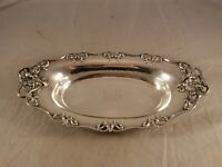 ANTIQUE WOODSIDE ART NOUVEAU STERLING SILVER TRAY 2386  311 GRAMS