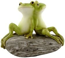 Top Collection Enchanted Story Fairy Garden Frog Friends on Stone Figurine #4342