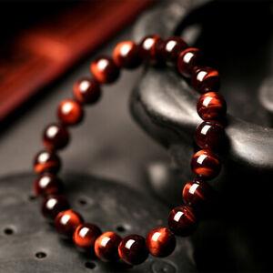 Handmade 8MM Natural Stone Prayer Beads Tiger Eye Bracelet For Men Yoga Jewelry