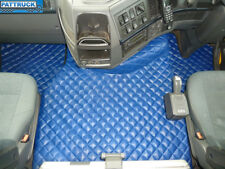 TRUCK FLOOR MATS SET COMPATIBLE WITH VOLVO FH3 2009-2013 TWIN AIR SEATS-BLUE