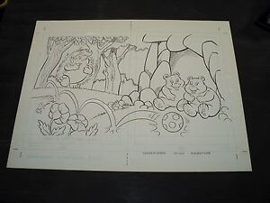 Snugglebumm Coloring Book Original Artwork RARE! Stan Goldberg! ART#0566