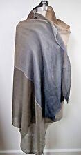 NEW LORO PIANA $1,795 Opposite gray brown cashmere silk large scarf shawl wrap