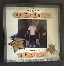 Great Christmas Gift Personalised Brother/Uncle Picture Frame Scrabble Letters