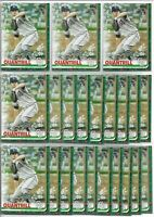 2019 Topps Holiday Walmart Cal Quantrill (22) Card Rookie Lot #HW89 Indians RC