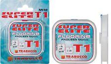 Filo da pesca Trabucco Fluorine T1 Super Elite  mt 50 terminali-lenza-bolognese