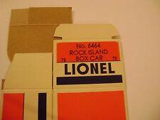 Lionel 6464-75 Rock Island   Box Car Licensed Reproduction Box