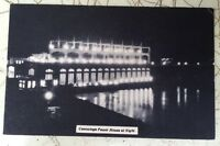 CONOWINGO DAM POWER-HOUSE AT NIGHT Susquehanna River MD unused postcard