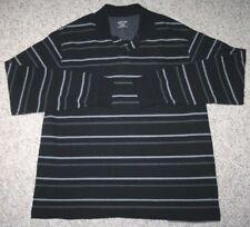 St. John's Bay Polo Shirt Long Sleeve XLT Black Gray Mens Man's Extra Large Tall