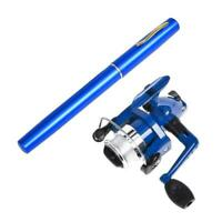 Teleskop Mini tragbare Taschenfischerei Aluminiumlegierung Angelrute Stift C2S7