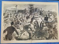 """Winslow Homer's """"Bayonet Charge"""" and """"Surgeon"""" Harper's Weekly July 12, 1862"""
