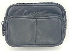 Unisex morbido vera pelle Coin Pouch borsa camera Portafoglio Custodia con passante per cintura 1474