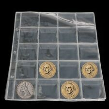 Album Pages 20 Pockets Money Coin Holder Storage Case Note Currency Collection